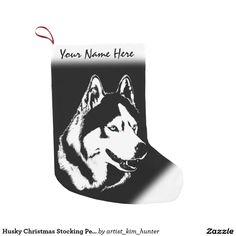 Husky Christmas Stocking Personalized Dog Stocking Small Christmas Stocking