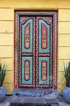 beautiful door at Galle Fort, Sri Lanka Grand Entrance, Entrance Doors, Doorway, Sri Lanka, When One Door Closes, Cool Doors, Painted Doors, Closed Doors, Door Knockers