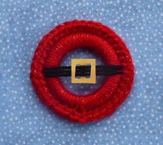 Whiskers & Wool: Santa's Jolly Belly - Christmas Ring Ornament