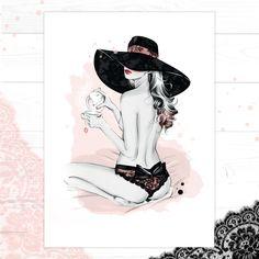 'Thé Noir', by Fashion Illustrator Cristina Alonso