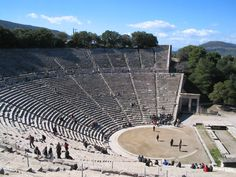 epidaurus greece - Bing Images. An ancient theatre with amazing natural acoustics. Summer theatre festival each year.