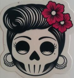 Sugar skull with rose tattoo ... I like the simplicity it still looks super nice