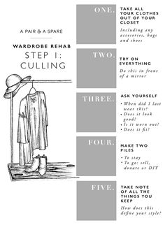 Welcome to Step 1 of the new Wardrobe Rehab series! As I mentioned last week I'm super excited to be kicking this new series off with you, and hope you'll join me in curating your closet. I'll be brin