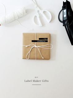 """"""""""" four DIY gift wrap ideas """""""" papel de regalo diy label maker Christmas Labels, Christmas Wrapping, Gift Maker, Gift Hampers, Simple Gifts, Diy Birthday, Jewelry Packaging, Inspirational Gifts, Paper Gifts"""