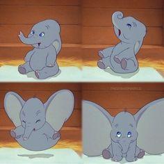 Little baby Dumbo He's the cutest! Disney Films, Disney Pixar, Disney Characters, Dumbo Disney, Old Disney, Disney Love, Disney Dudes, Arte Disney, Disney Magic
