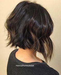 Short, Messy & Textured Bob Haircut