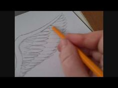 ▶ How To Draw An Angels Wing Video - YouTube