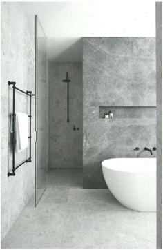Bathroom Goals: 10 Amazing Minimal Bathrooms - Home Design Remodelling Ideas Hotel Bathroom Design, Bathroom Tile Designs, Modern Bathroom Decor, Modern Bathtub, Renovation Design, Lavatory Design, Mim Design, Brutalist Design, Minimal Bathroom