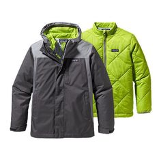 Boys' 3-in-1 Jacket (68361) Milo, M, gray or sumac red