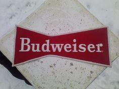 """Vtg 1970's Budweiser Beer Driver Uniform Back Of Coat Patch Unused Large 9"""""""