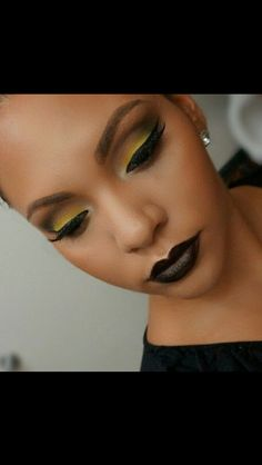 Love the dark lip and eyeshadow choices