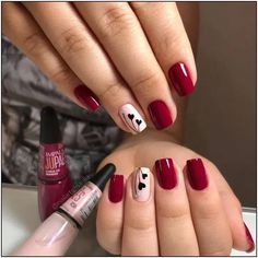 What you need to know about acrylic nails - My Nails Cute Acrylic Nails, Cute Nails, Pretty Nails, Burgundy Nail Designs, Burgundy Nails, Valentine's Day Nail Designs, Acrylic Nail Designs, Trendy Nail Art, Stylish Nails