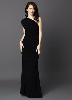 Maxi cocktail dress in black
