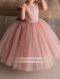 Cute Pink Tulle Flower Girl Dresses – Viniodress Source by dinhsanny girl dresses