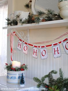 DIY Christmas Banner via Town and Country Living