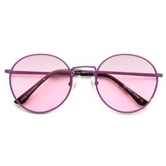 Cheap Round Sunglasses | Brett Color Tinted Metal Round Sunglasses | BleuDame.com Optician, Prescription Lenses, Sunglass Frames, Types Of Fashion Styles, Round Sunglasses, At Least, Crystals, Metal, Stuff To Buy