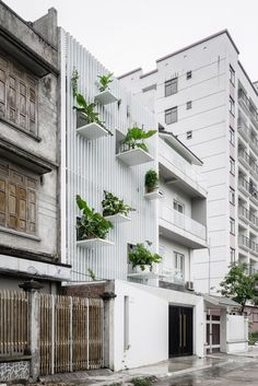 "DANstudio Renovates House in Hanoi with ""Green Balconies"" Facade"