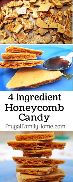 Simple Honeycomb Candy Recipe ~ This is a delicious homemade recipe for honeycomb candy made with honey. Some people call it seafoam candy, some people call it sponge candy but I call it delicious. It (Homemade Christmas Recipes) Honeycomb Recipe, Honeycomb Candy, Christmas Food Gifts, Christmas Baking, Christmas Parties, Christmas Recipes, Christmas Time, Homemade Christmas Candy, Desert Recipes