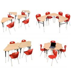 ways to arrange triangle desks innovation classroom - Google Search
