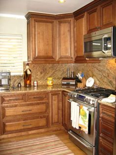 Cherry Cabinets With Granite Countertops Maple Cabinets Stained