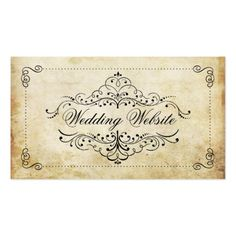 292 best wedding business cards images on pinterest wedding event the ornate flourish vintage wedding collection business card colourmoves