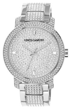 Vince Camuto Pavé Bracelet Watch, 42mm available at #Nordstrom