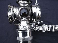 antique & vintage bicycle motorcycle carbide lamp Solar C.M. HALL LAMP .CO