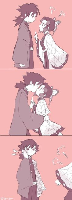 Giyuu making he& on shinobu. Slayer Meme, Demon Slayer, Fanarts Anime, Anime Characters, Otaku Anime, Manga Anime, Cute Anime Coupes, Anime Lindo, Anime Love Couple