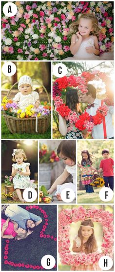 Using flowers in photography- cute ideas for Spring