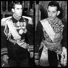پهلوى دوم پادشاه به همراه رزم آرا نخست وزير