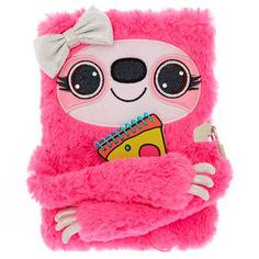Sandy the Sloth Plush Lock Diary - Pink, Justice Accessories, School Accessories, Girls Accessories, Tween Girls, Toys For Girls, Cute Diary, Unicorn Bedroom, Stationary School, Cute Pens
