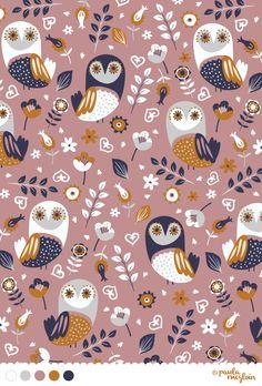 Woodland Owls by Paula McGloin @Paula manc McGloin www.paulamcgloin.com