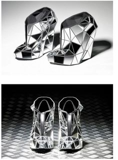 Mirror heels by Andreia Chaves