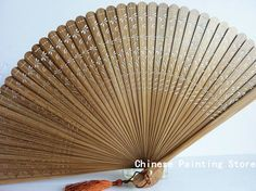 Antique Hand Fan Styles | New Gift Vintage Chinese Japanese Style hand-carved folding Fan Bamboo ...