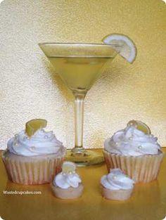 Lemon Drop cupcakes - with vodka!