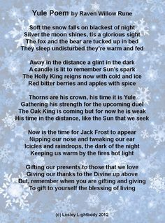 Yule Poem by Raven Willow Rune | ancient path |