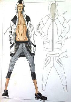 Sportswear - Designed and Illustrated by Kristina Keurjikian
