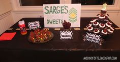 Sarge's Surplus for gift table