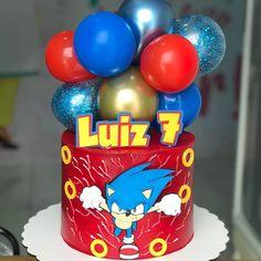 50th Birthday Cake Images, Sonic Birthday Cake, Sonic Birthday Parties, Sonic Party, Bolo Sonic, Sonic Cake, Ladybug Cakes, Bebidas Detox, Party Co