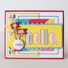 Hello card - Scrapbook.com