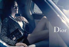 Model Marion Cotillard, photographer Mikael Jansson for Dior handbags, Fall / Winter 2011