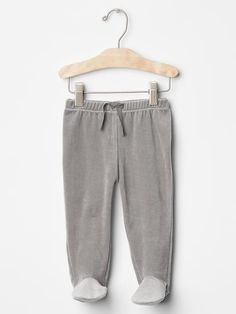 Organic velour footed pants.