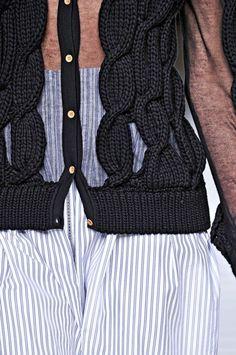 Fendi chiffon + knit