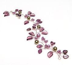 Items similar to Purple Bridal Hair Vine, Bridal Hair Accessories, Purple Floral Hair Vine, Leaf Wedding Hair Vine CPJ on Etsy Peach Hair, Purple Hair, Flower Headpiece, Fascinator, Hair Jewelry, Wedding Jewelry, Jewellery, Bridal Hair Vine, Hair Beads