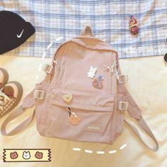 Cute School Bags, Cute School Uniforms, Cute School Supplies, Pretty Backpacks, School Backpacks, Best Kids Backpacks, Baby Pink Aesthetic, Kawaii Accessories, Pencil Bags