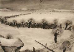 """Arte del Holocausto  """"Llegada de un transporte a Theresienstadt""""Leo Haas"""