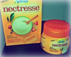Enter to win one box of single serve packs and one canister of New Nectresse Sweetener!