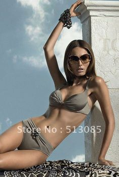 Free Shipping Gray swimwear swim Beach wear bathing Suit Women Hot Sexy Swimsuit Halter Bra Push UP TOP Pad Bikini Biquini vs on AliExpress.com. $11.99