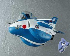 The T-2 Blue Egg Plane model.