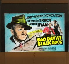Bad Day At Black Rock original film movie advertising glass slide, available through my website.